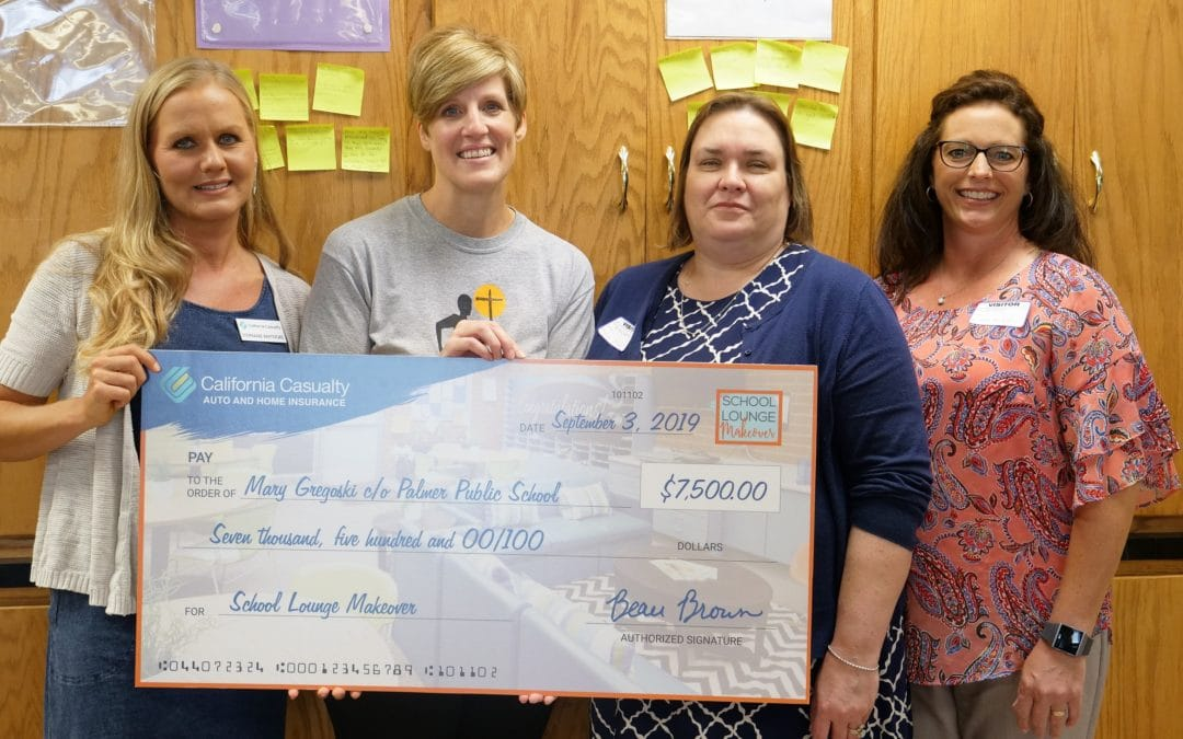 California Casualty Congratulates Nebraska $7,500 School Lounge Makeover Winner