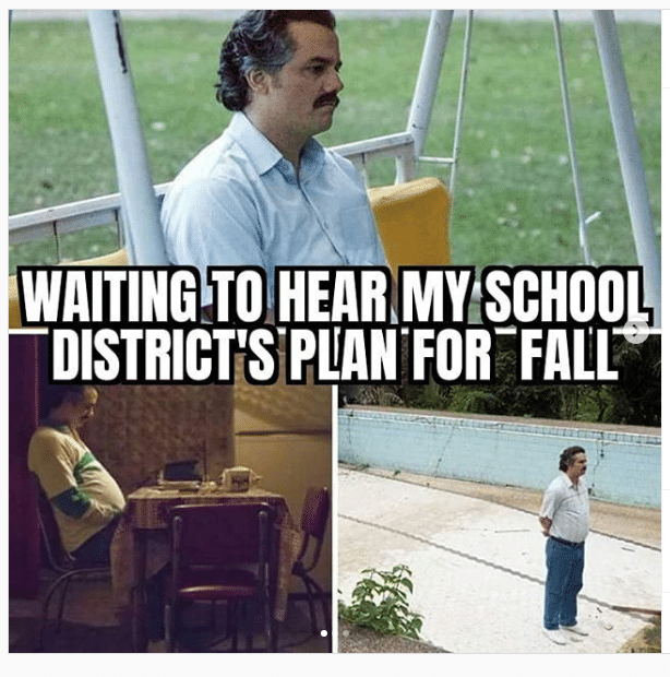 A man waiting to hear what his school district's plan is for the fall.
