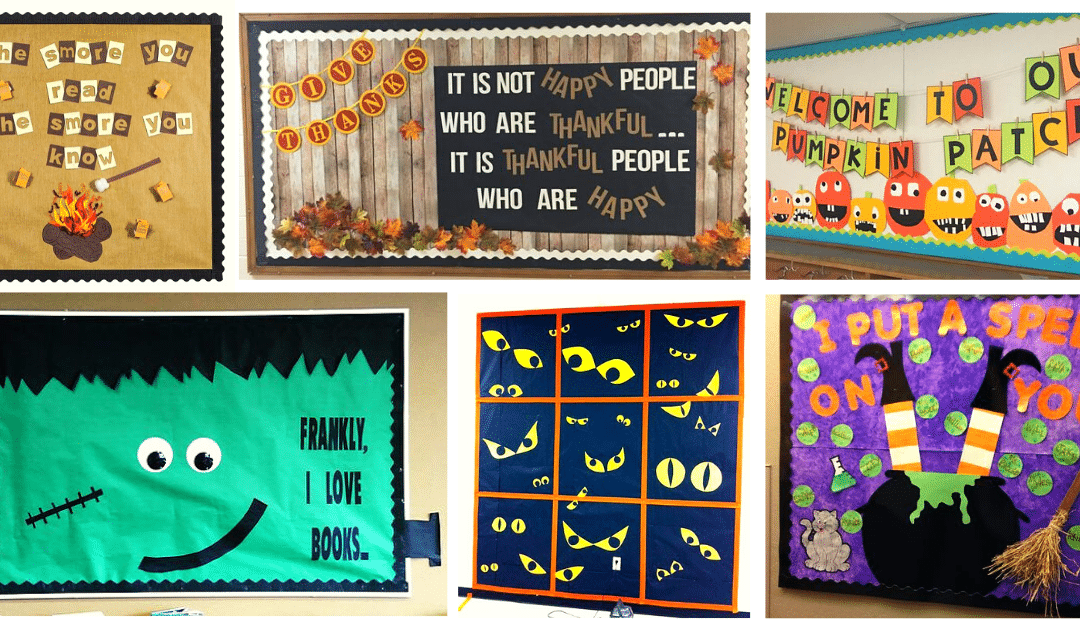 halloween and thanksgiving bulletin boards
